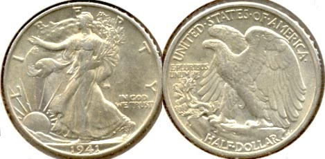 1941-S Walking Liberty Half Dollar AU-50 b