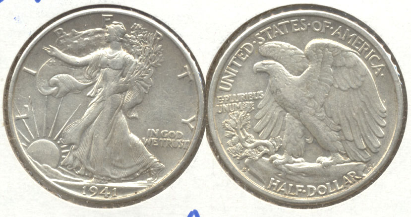 1941-S Walking Liberty Half Dollar AU-50 e