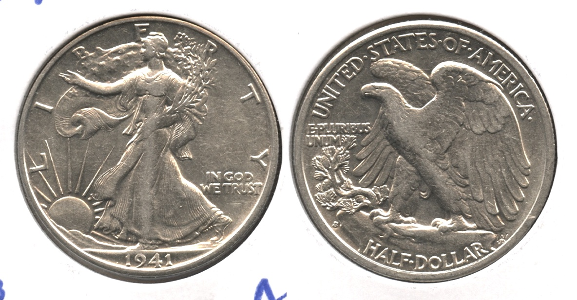 1941-S Walking Liberty Half Dollar AU-50 #o