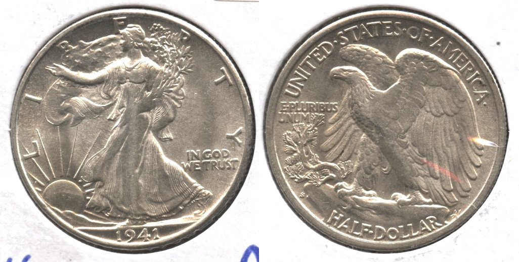 1941-S Walking Liberty Half Dollar AU-53 #a
