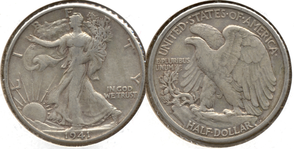 1941-S Walking Liberty Half Dollar EF-40