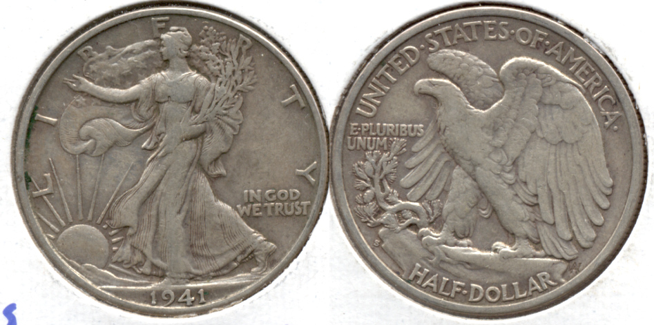1941-S Walking Liberty Half Dollar VF-20 b