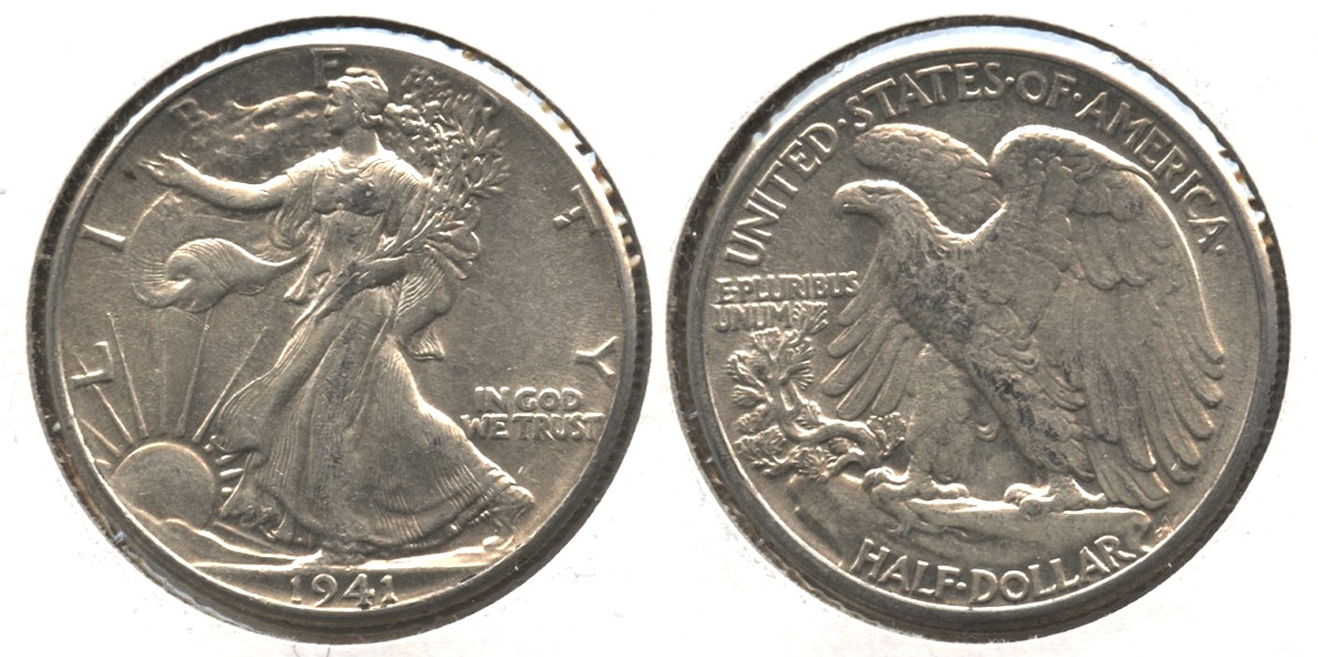 1941 Walking Liberty Half Dollar AU-50 #r