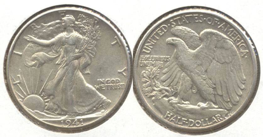 1941 Walking Liberty Half Dollar AU-55 g