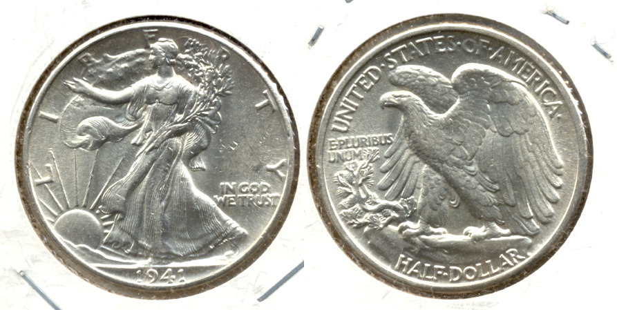 1941 Walking Liberty Half Dollar AU-55 m