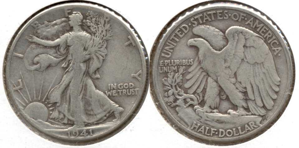 1941 Walking Liberty Half Dollar Fine-12