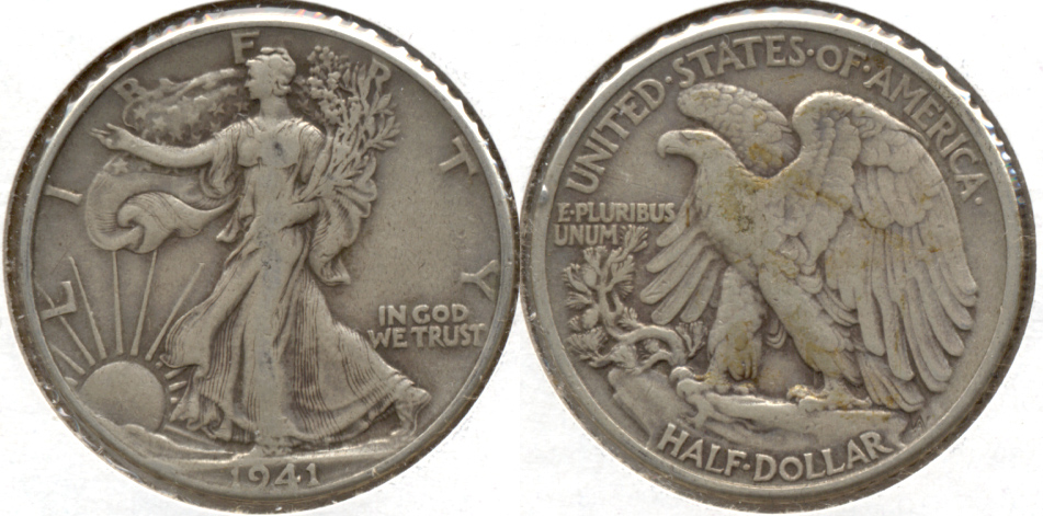 1941 Walking Liberty Half Dollar Fine-12 e