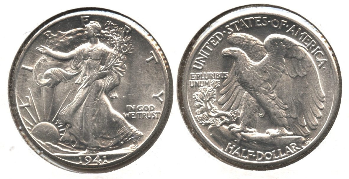 1941 Walking Liberty Half Dollar MS-60 #e