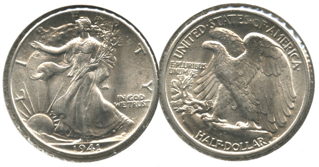 1941 Walking Liberty Half Dollar MS-63 #j