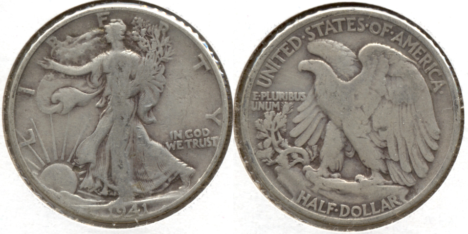 1941 Walking Liberty Half Dollar VG-8