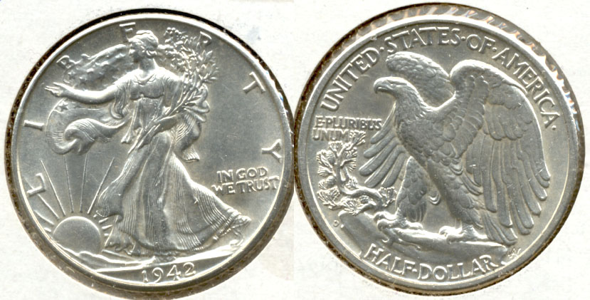 1942-D Walking Liberty Half Dollar AU-50 a
