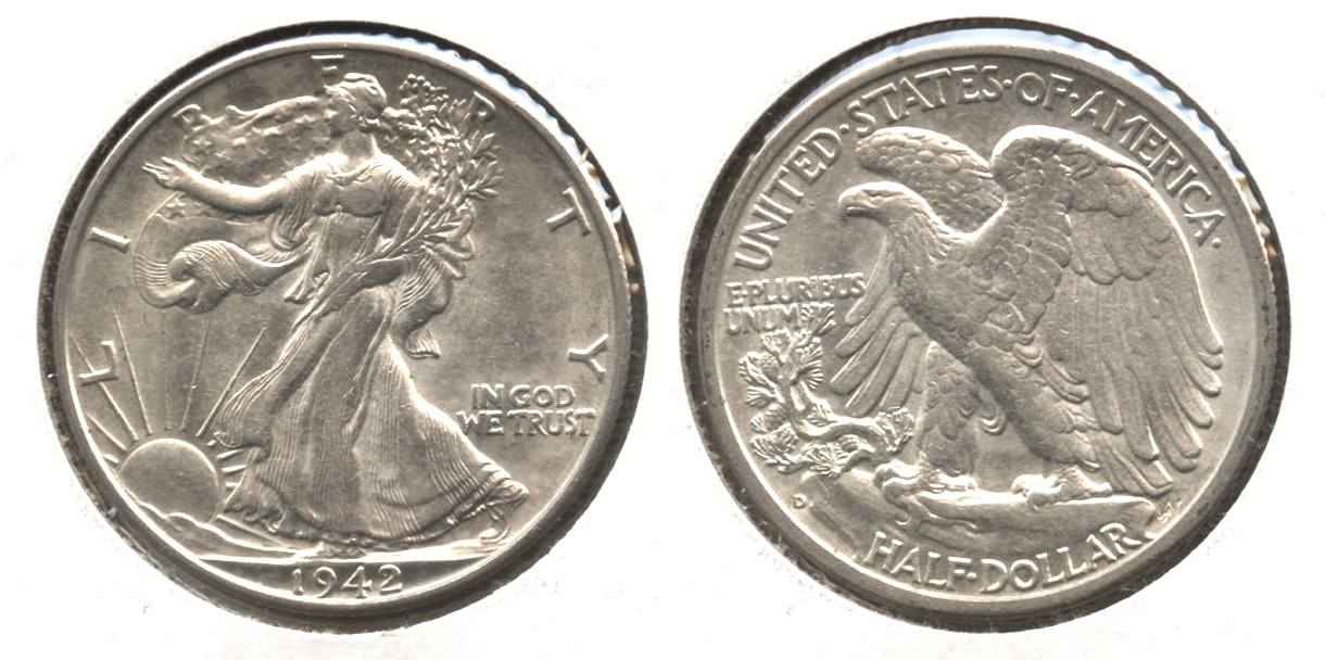 1942-D Walking Liberty Half Dollar AU-55 #b