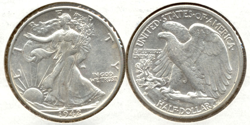 1942-S Walking Liberty Half Dollar AU-50 a