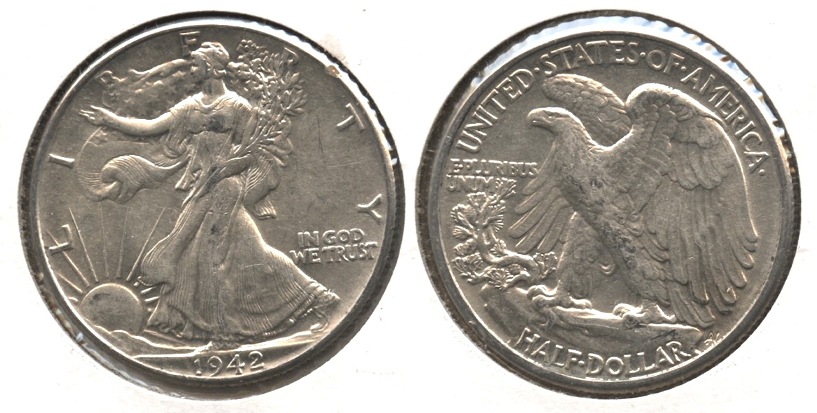1942 Walking Liberty Half Dollar AU-50 #l