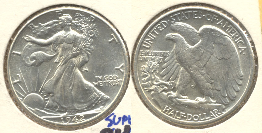 1942 Walking Liberty Half Dollar AU-58
