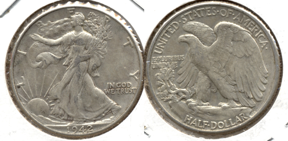 1942 Walking Liberty Half Dollar EF-40 m