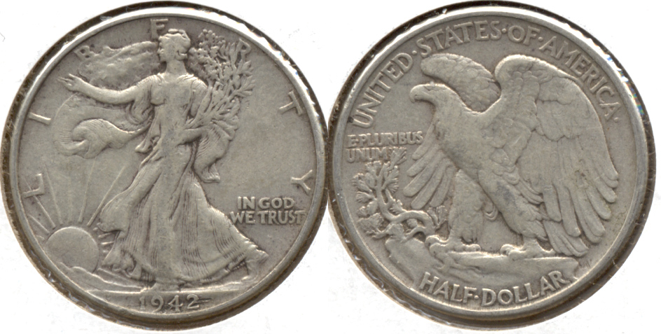 1942 Walking Liberty Half Dollar Fine-15