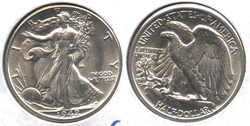 1942 Walking Liberty Half Dollar MS-63 #k