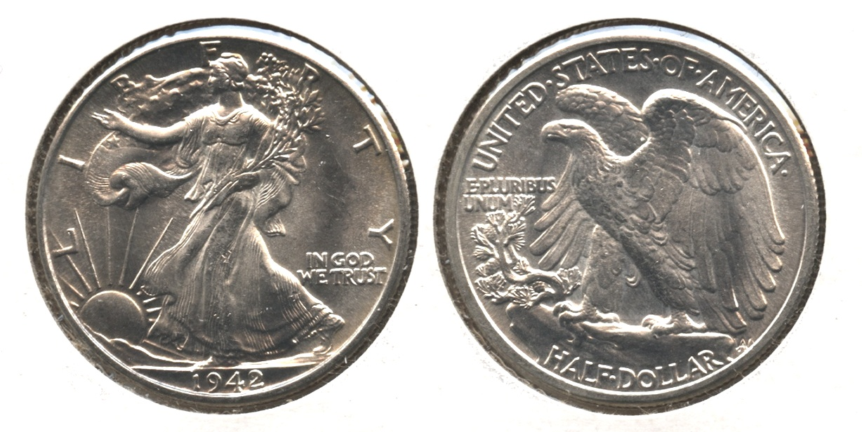 1942 Walking Liberty Half Dollar MS-63 #n
