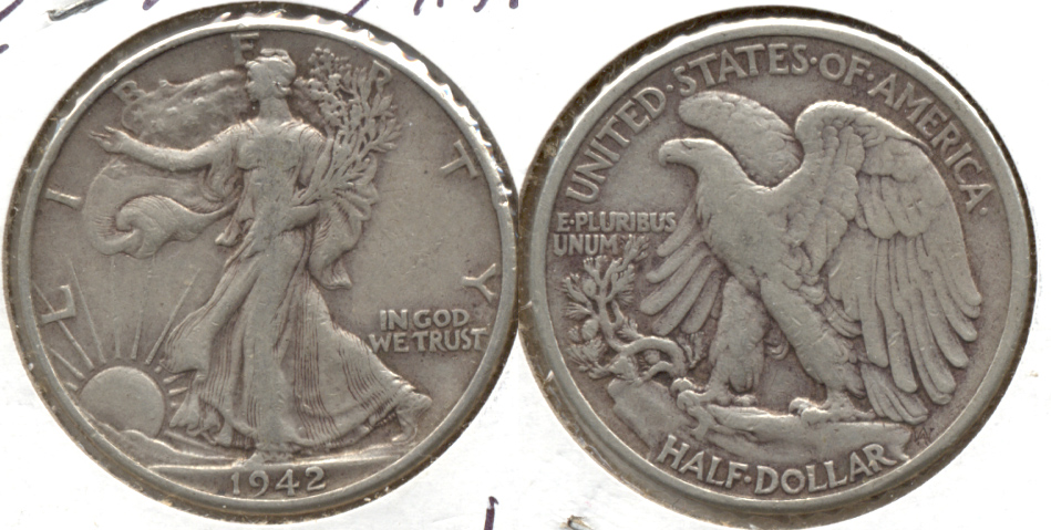 1942 Walking Liberty Half Dollar VF-20 c