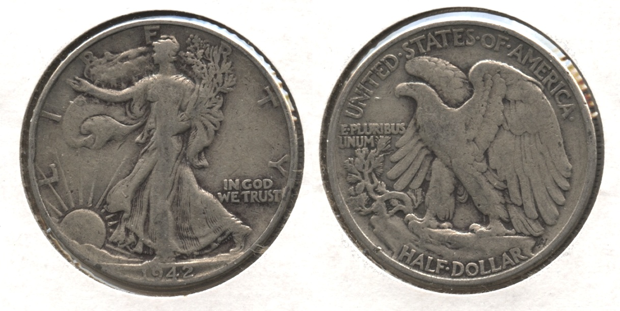 1942 Walking Liberty Half Dollar VG-8 #j