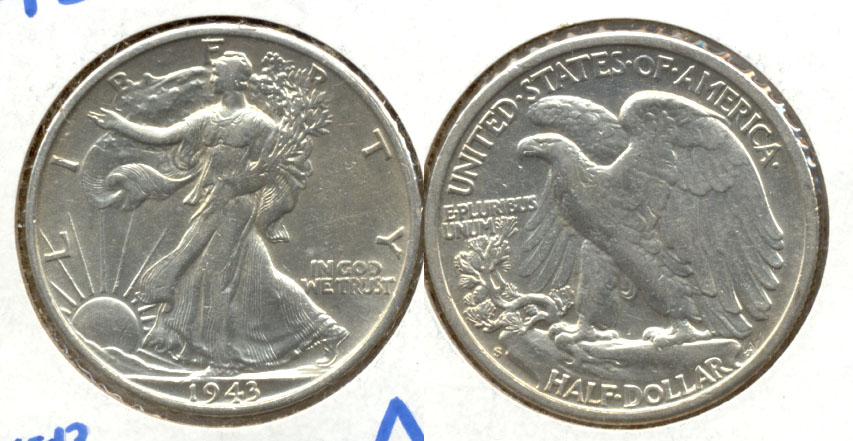 1943-S Walking Liberty Half Dollar AU-50 a