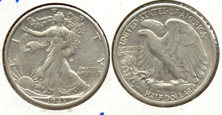 1943-S Walking Liberty Half Dollar AU-50 e