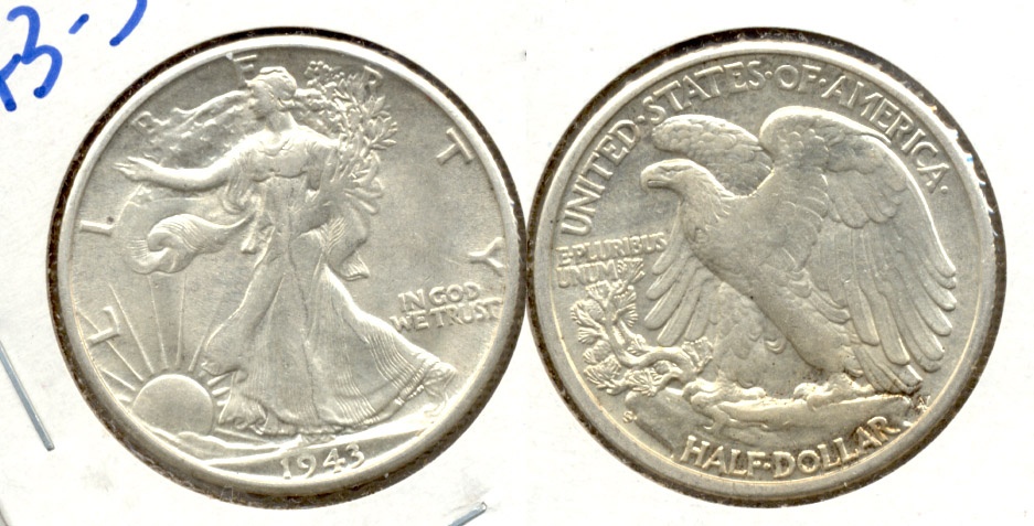 1943-S Walking Liberty Half Dollar AU-55 c