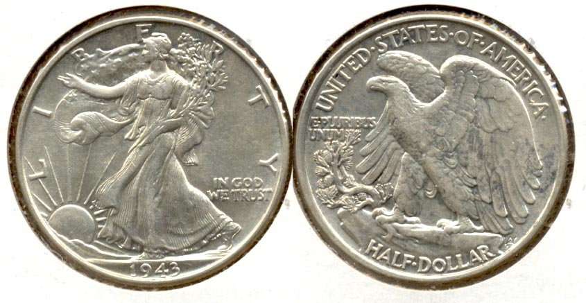1943 Walking Liberty Half Dollar AU-50 j