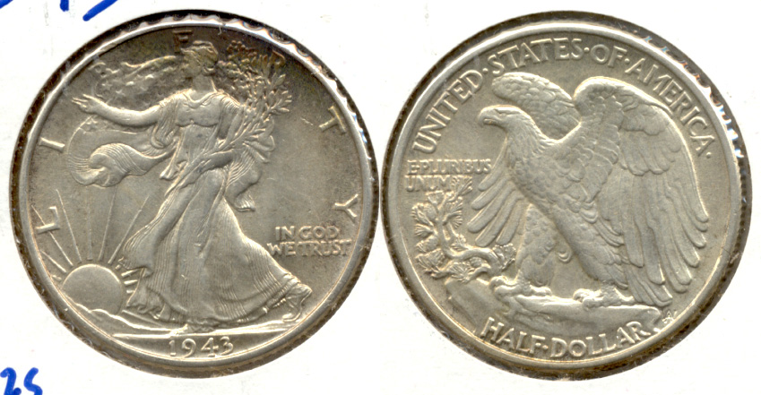 1943 Walking Liberty Half Dollar AU-55 q