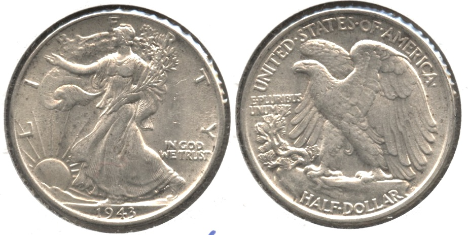 1943 Walking Liberty Half Dollar AU-55 #z
