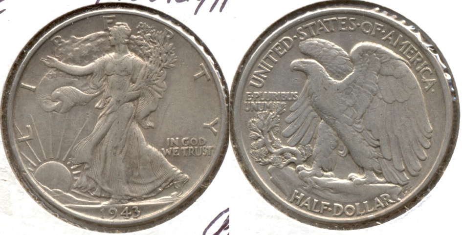 1943 Walking Liberty Half Dollar EF-40 c