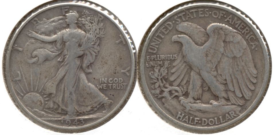 1943 Walking Liberty Half Dollar Fine-12 i