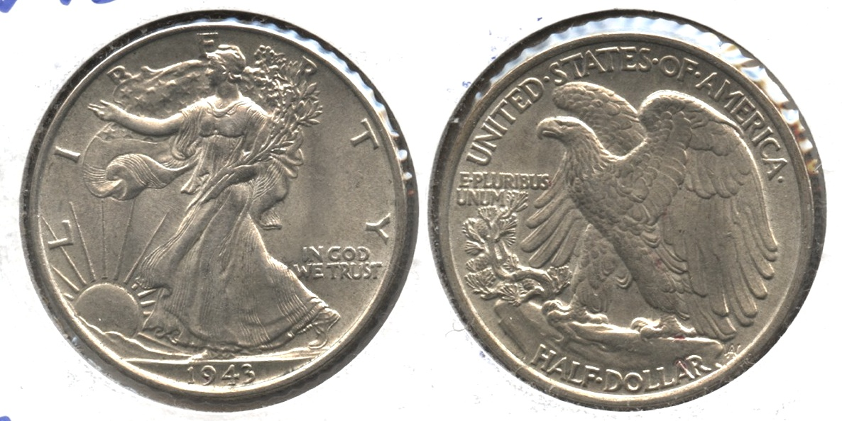 1943 Walking Liberty Half Dollar MS-60