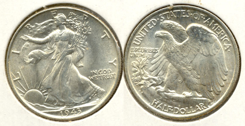 1943 Walking Liberty Half Dollar MS-63