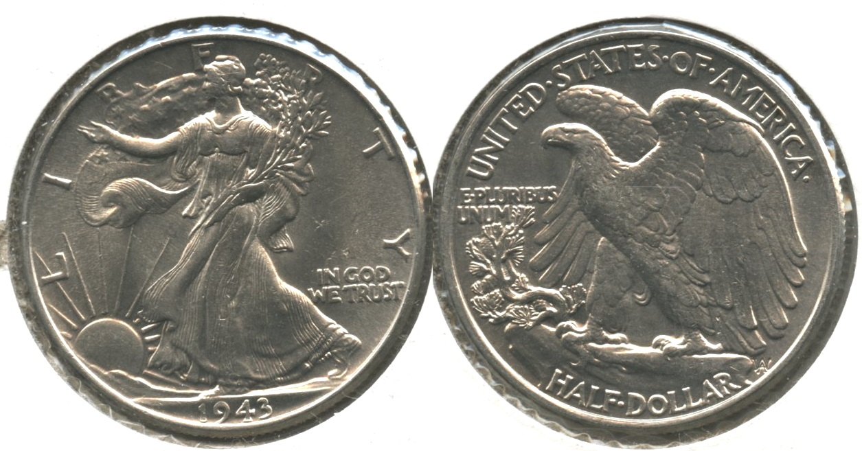 1943 Walking Liberty Half Dollar MS-63 #h