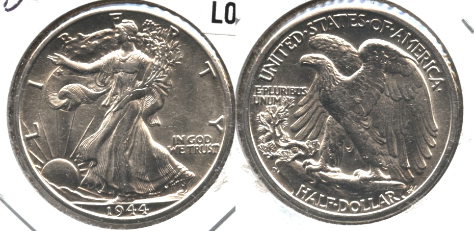 1944-D Walking Liberty Half Dollar AU-55 a