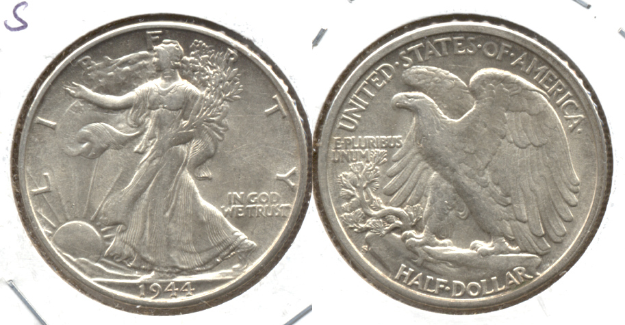 1944-S Walking Liberty Half Dollar AU-50 i