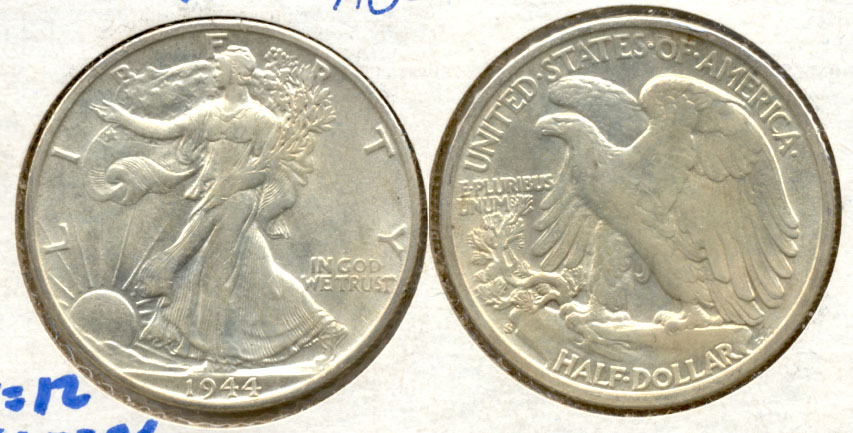 1944-S Walking Liberty Half Dollar AU-55 c