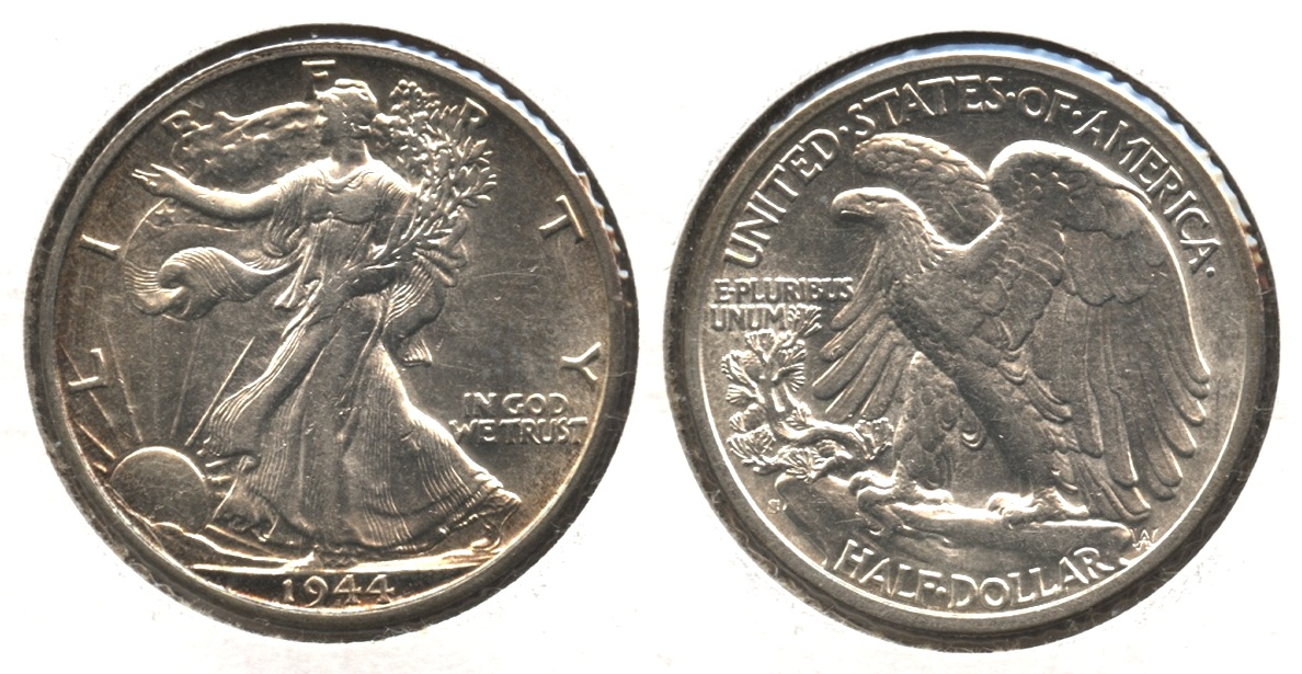 1944-S Walking Liberty Half Dollar AU-58 #a
