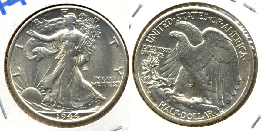 1944-S Walking Liberty Half Dollar MS-60 d