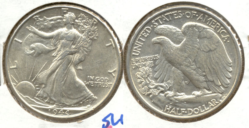 1944 Walking Liberty Half Dollar AU-55 d