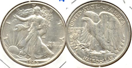 1945-S Walking Liberty Half Dollar AU-50