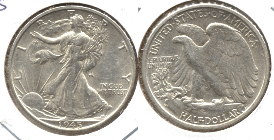 1945-S Walking Liberty Half Dollar AU-50 n