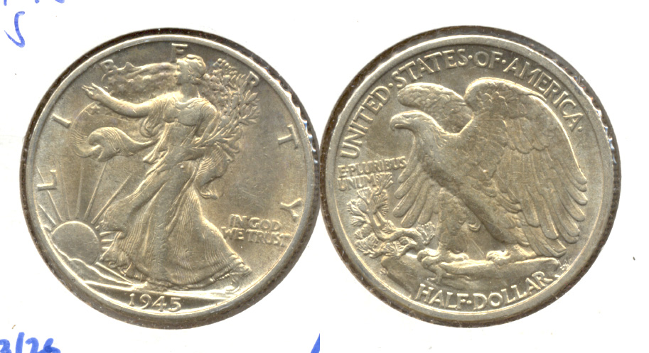 1945-S Walking Liberty Half Dollar AU-53 g