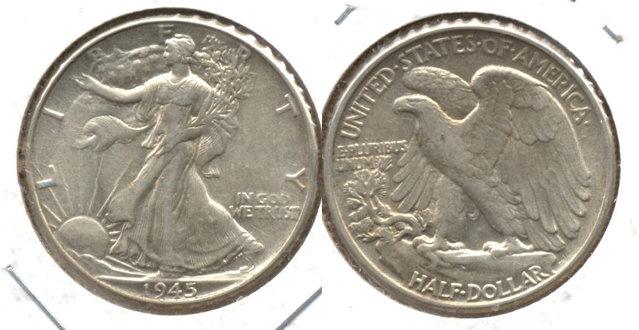 1945 Walking Liberty Half Dollar AU-50 i