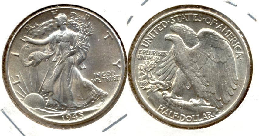 1945 Walking Liberty Half Dollar AU-55 m