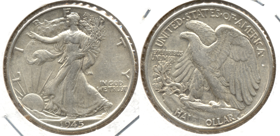1945 Walking Liberty Half Dollar EF-40 f