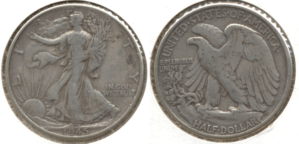 1945 Walking Liberty Half Dollar Fine-12