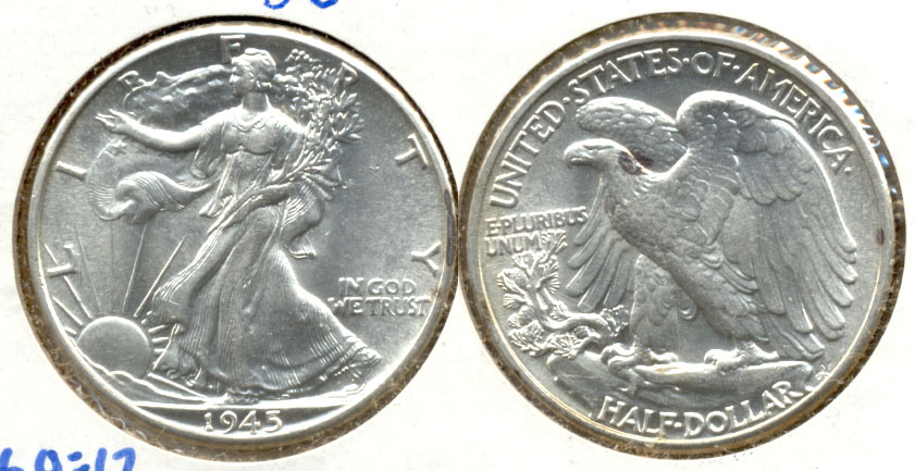 1945 Walking Liberty Half Dollar MS-60
